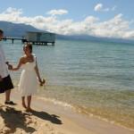 Casual stroll along the shoreline