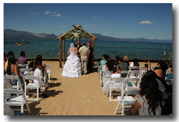 Lakeside Beach Weddings Lake Tahoe