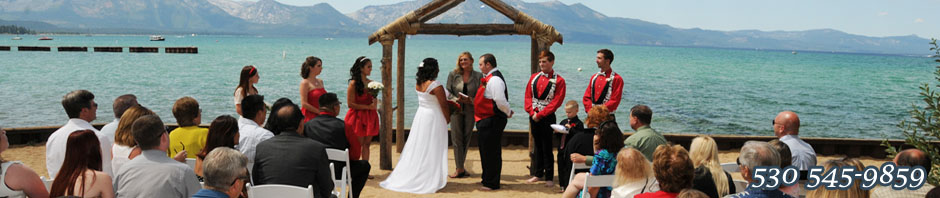 The wedding venue of Lakeside Beach in Lake Tahoe