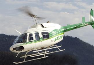 Helicopter adventure wedding