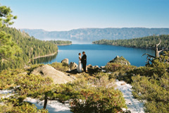 A simple Tahoe wedding on the overlook of Emerald Bay