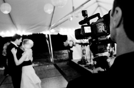 Filming at the reception