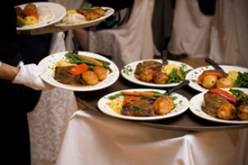 Display of the meals being served