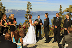 The wedding deck on top of Heavenly Mountain