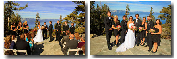 Wedding being performed on top of Heavenly Mountain