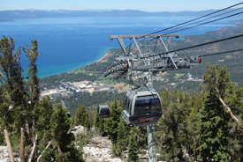 Aerial view of Lake Tahoe as seen from the gondola