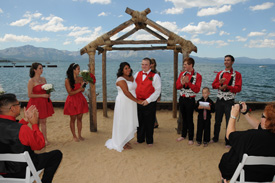 Celebrating their special day at Lakeside Beach