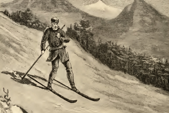 Snowshoe Thompson on skiing